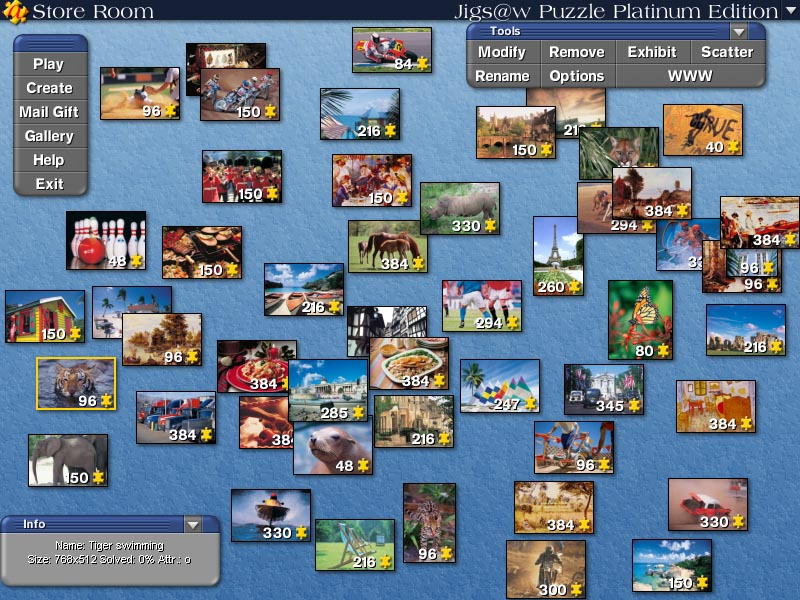Jigs@w Puzzle Platinum Edition - Create,  play and e-mail your puzzles