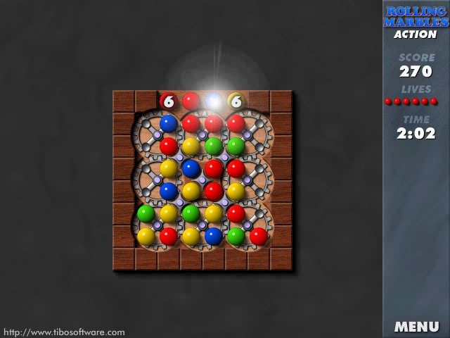 Click to view Rolling Marbles screenshots